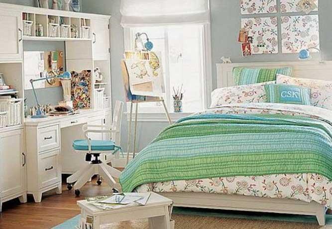 Интерьер комнаты для девочки-подростка 9