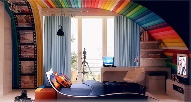 Детская комната в стиле хай-тэк