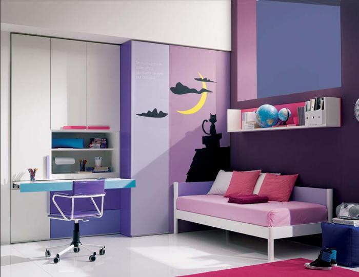 Комната для девочки 10-12 лет