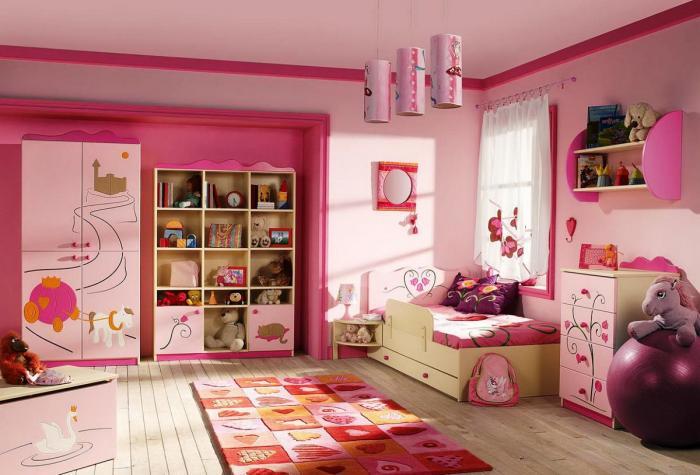 Детская спальня дизайн для девочки