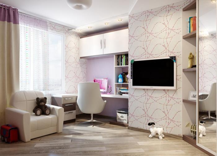 Дизайн интерьера детской спальни 8