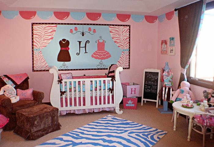 Фото дизайна детской комнаты для девочки 2-3 лет