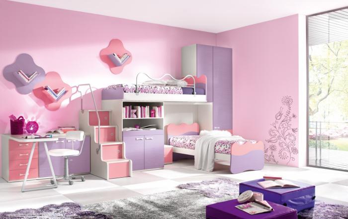 Дизайн интерьера спальни для детей 5