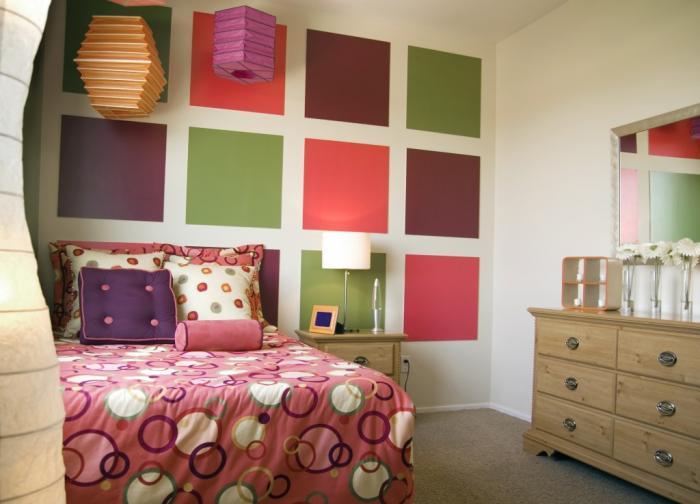 Дизайн интерьера спальни для детей 7
