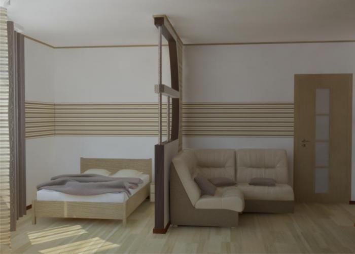 Фото дизайна спальни-гостиной