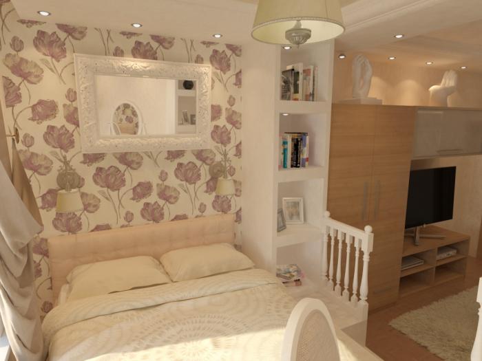 Фото спальни-гостиной