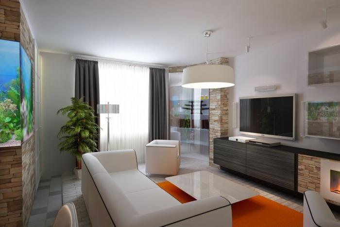 Фото дизайна гостиной 16 кв. м