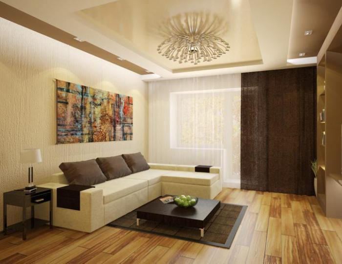 Фото дизайна гостиной 20 кв. м