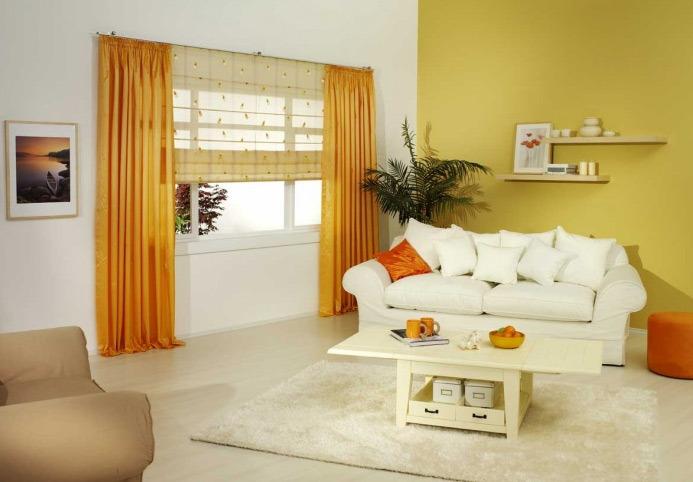 Дизайн штор для зала - фото