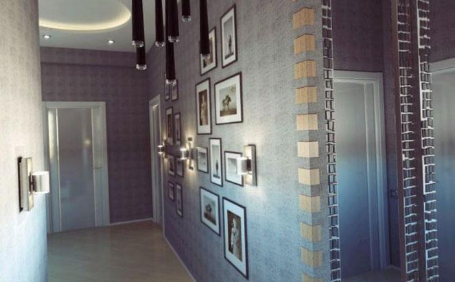 Варианты дизайна коридора