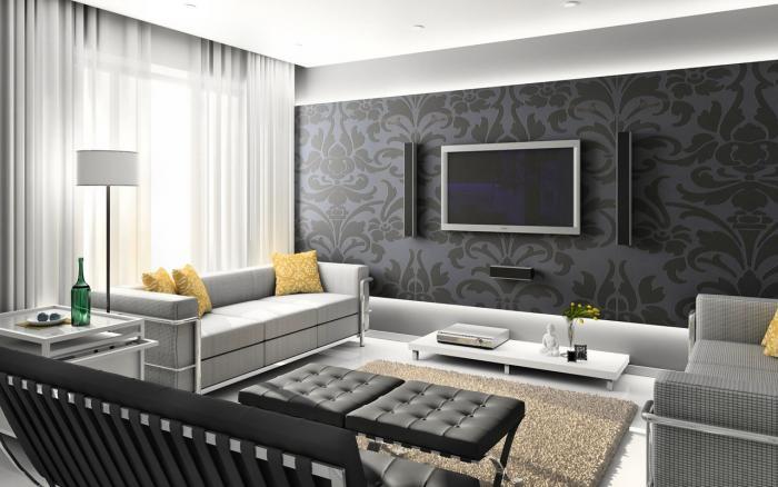 Дизайны гостиных комнат