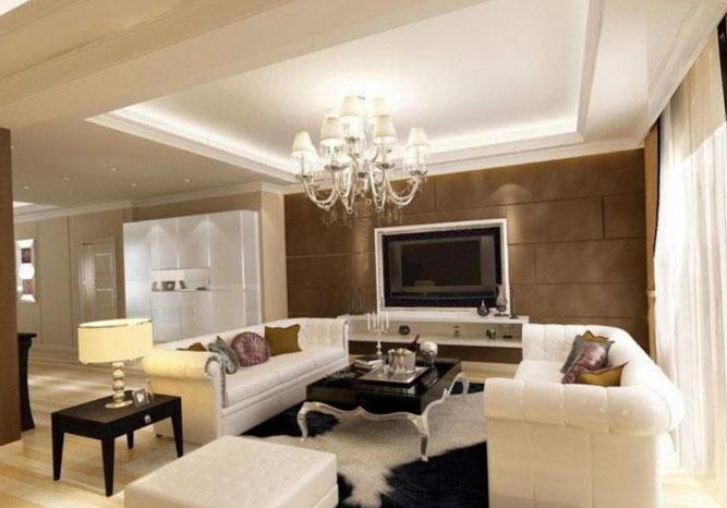 Фото дизайна потолка в комнате