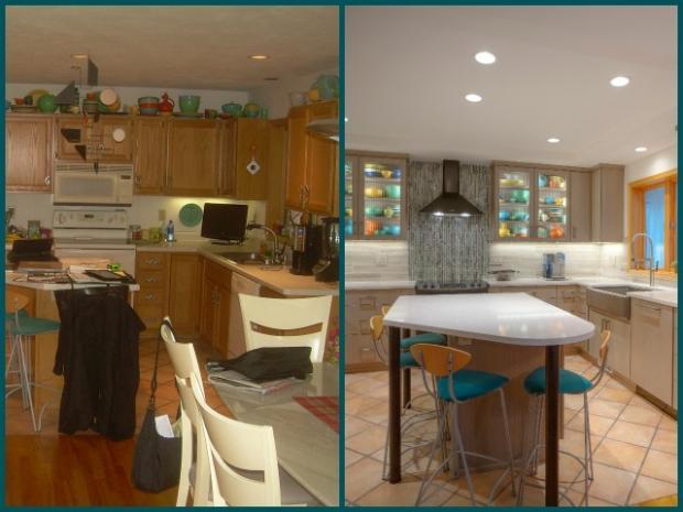 Дизайн кухни-гостиной - 13