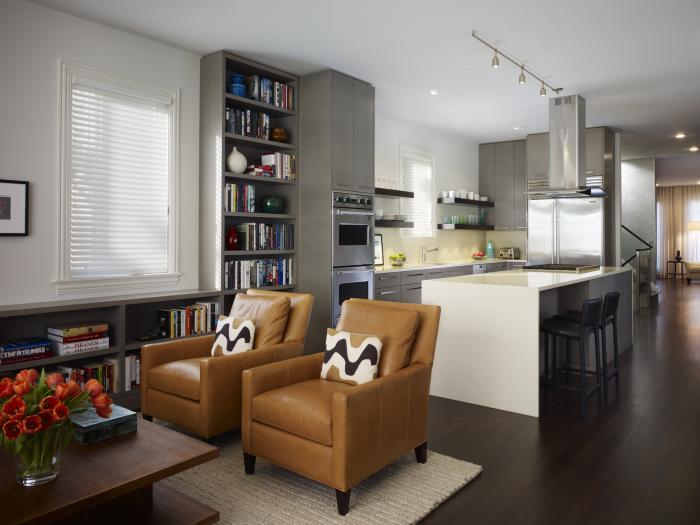 Дизайн кухни-гостиной - фото
