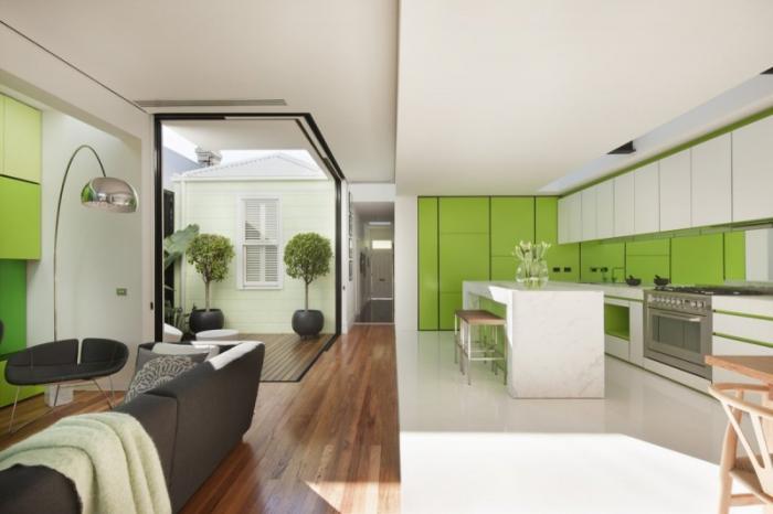 Дизайн кухни-гостиной - 9