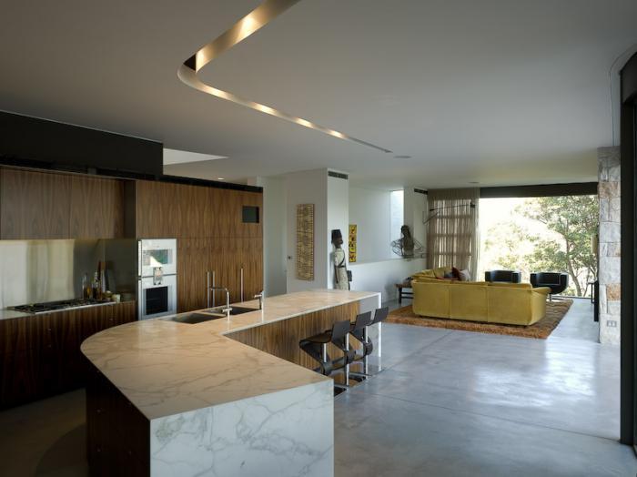 Дизайн кухни-гостиной - 11