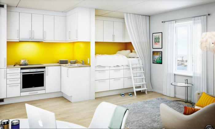 Дизайн кухни-гостиной - 12