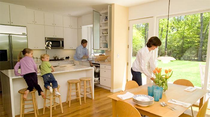 Дизайн кухни-гостиной - 14