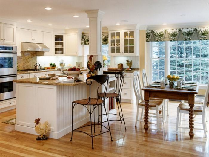 Дизайн кухни-гостиной - 16