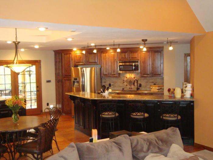 Дизайн кухни-гостиной - 18