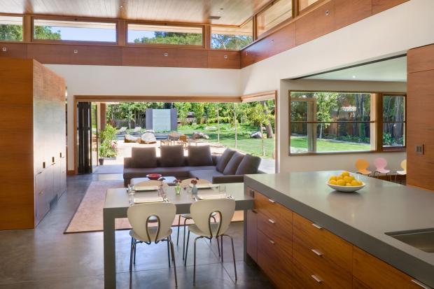 Дизайн кухни-гостиной - 19