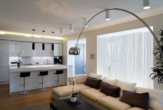 Дизайн кухни-гостиной - 21