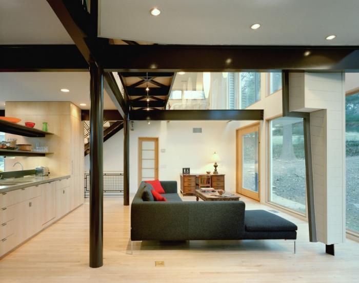 Дизайн кухни-гостиной - 22
