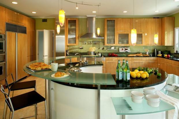 Дизайн кухни-гостиной - 24