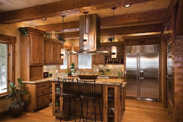 Дизайн кухни-гостиной - 25
