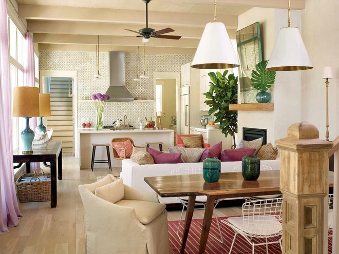 Дизайн кухни-гостиной 50