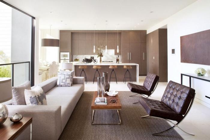 Дизайн кухни-гостиной 51