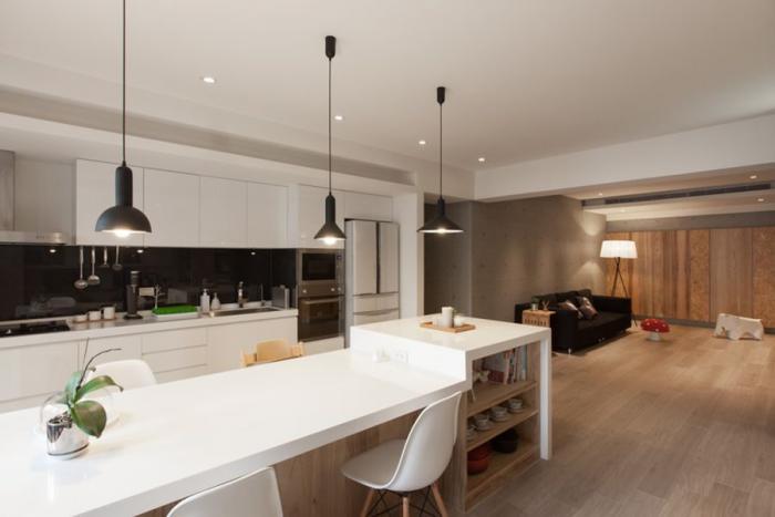 Дизайн кухни-гостиной 53