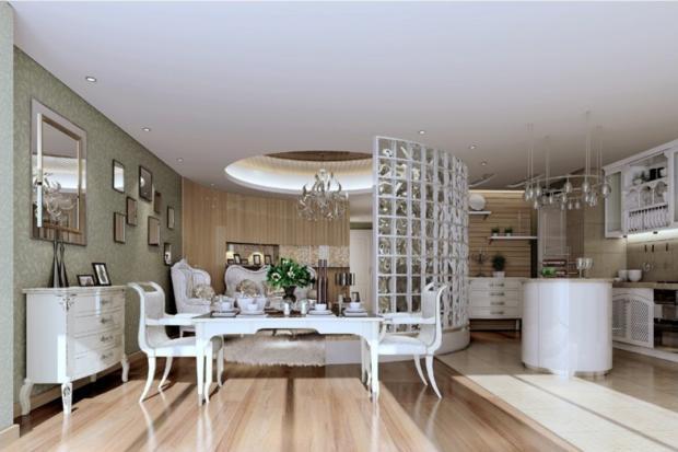 Дизайн кухни-гостиной - 8