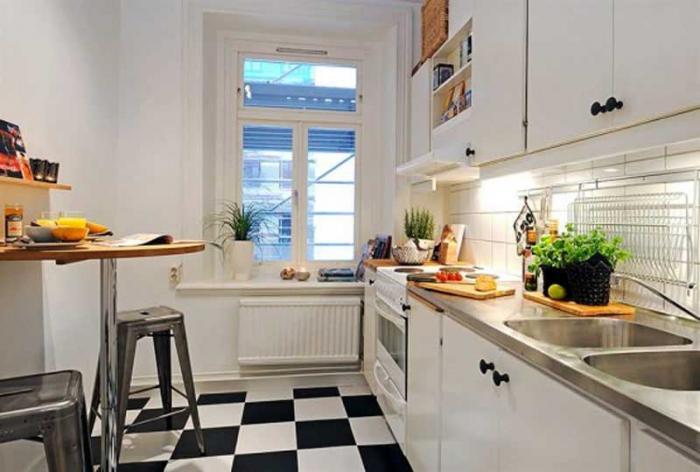Дизайн кухни-гостиной фото 10 кв.м
