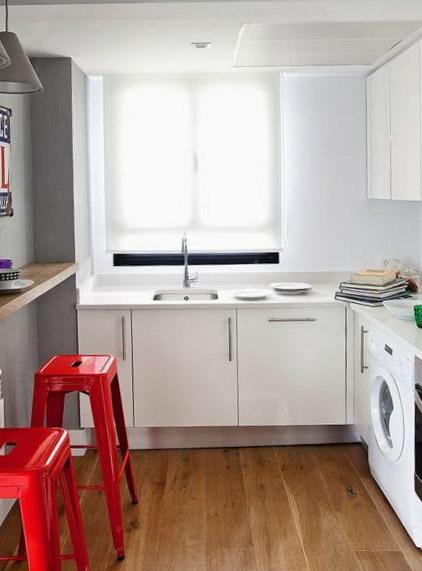 Белый дизайн кухни 9 кв м