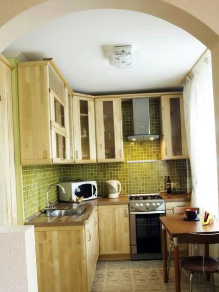 Мелкая плитка на кухне