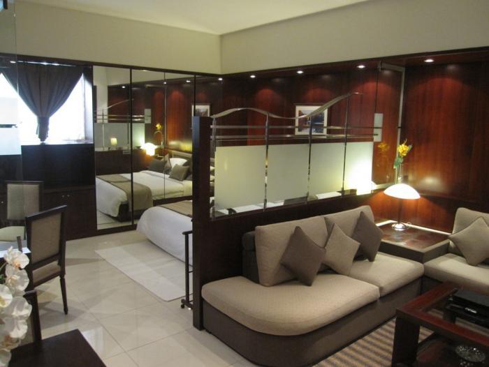 Спальня-гостиная с изолированной кухней