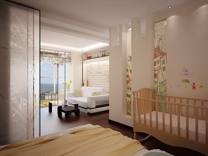 Дизайн однокомнатной квартиры с ребенком - примеры интерьера 33