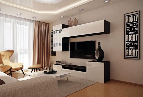 Дизайн квартиры 2017 (гостиная) – 1