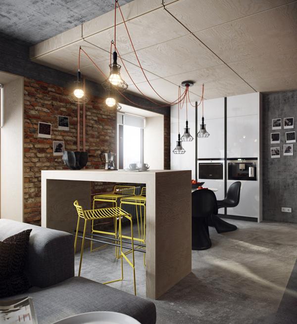 Дизайн квартиры 2017 (лофт) – 1