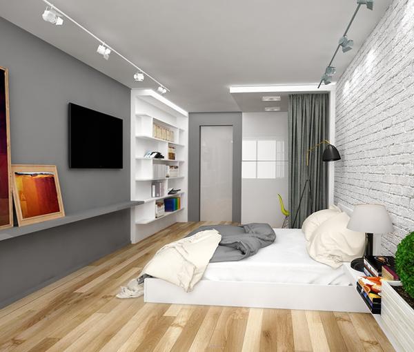 Дизайн квартиры 2017 (однокомнатная) – 2