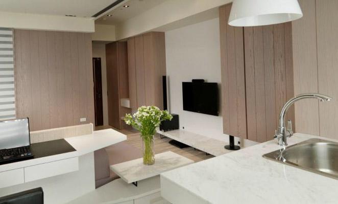 Фото дизайна квартиры-студии в стиле хай тек
