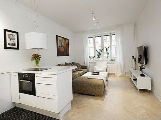 Дизайн квартиры-студии 40-50 кв. м.
