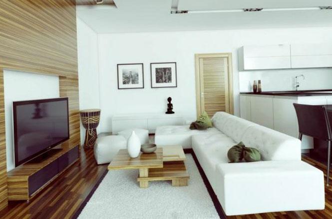 Фото дизайна квартиры-студии 40-50 кв. м.