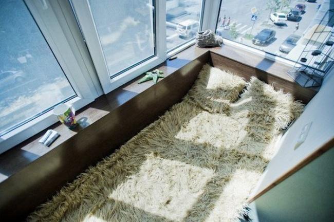 Дизайн лоджии спальня 01