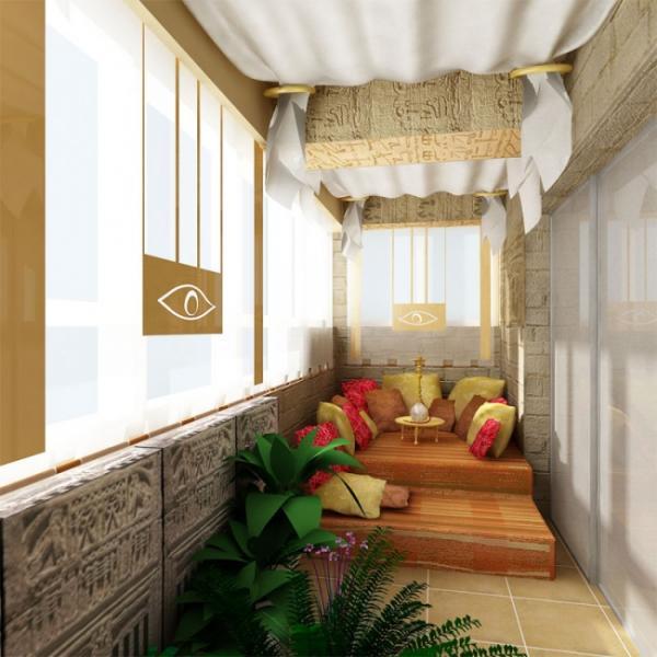 Дизайн лоджии восточная 02