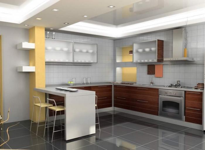 Нюансы дизайна угловой кухни