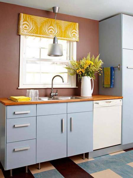 Дизайн штор на кухню 2