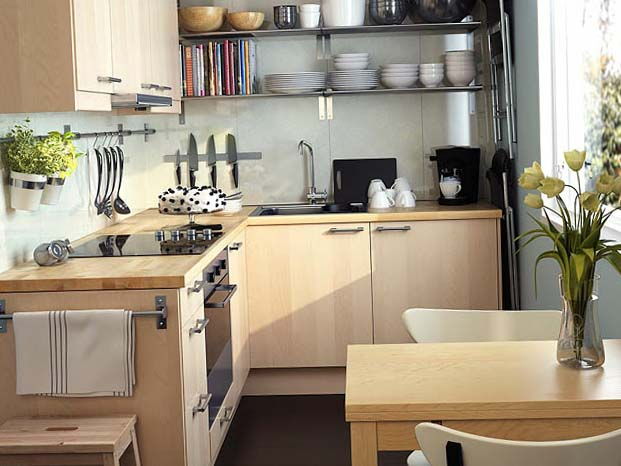 Обустройство маленькой кухни 3