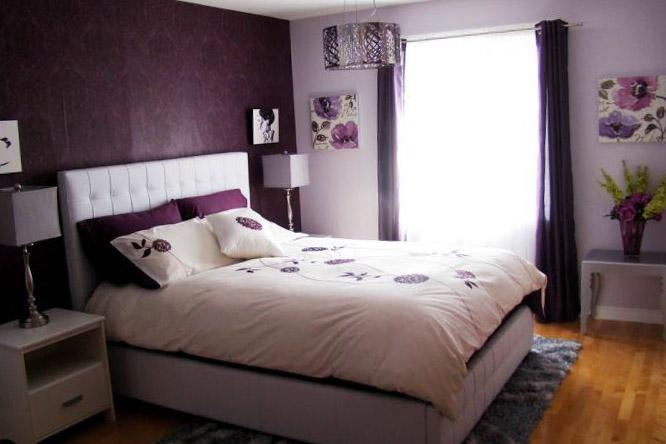 Дизайн розово-сиреневой спальни